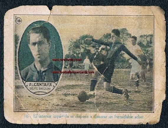 1922 Alcantara Tonda Spanish trade card